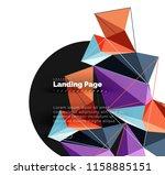 polygonal geometric design ... | Shutterstock .eps vector #1158885151