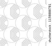 black and white geometric... | Shutterstock .eps vector #1158888781