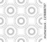 black and white geometric... | Shutterstock .eps vector #1158888787