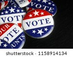 red  white  and blue vote... | Shutterstock . vector #1158914134