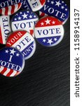 red  white  and blue vote... | Shutterstock . vector #1158914137