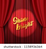 theater stage with red heavy... | Shutterstock .eps vector #1158936364