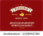 """vintage typeface """"pizzeria"""" and ... 
