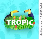 word tropic composition with... | Shutterstock .eps vector #1158950644