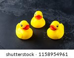 Set Of Yellow Rubber Ducks On ...