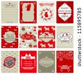 Set Of Vintage Christmas Tags ...