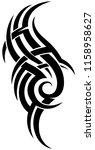 black tribal tattoo pattern on...   Shutterstock .eps vector #1158958627