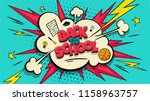 back to school pop art cloud... | Shutterstock .eps vector #1158963757