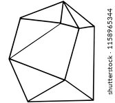 vector geometric form. isolated ...   Shutterstock .eps vector #1158965344