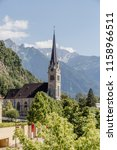 the ancient cathedral in vaduz  ... | Shutterstock . vector #1158966511
