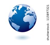 simple blue earth icon in the... | Shutterstock .eps vector #115897321