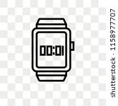 smartwatch vector icon isolated ... | Shutterstock .eps vector #1158977707