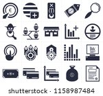 set of 20 icons such as invoice ... | Shutterstock .eps vector #1158987484
