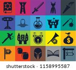 set of 20 icons such as  bridge ...