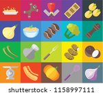 set of 20 icons such as onion ... | Shutterstock .eps vector #1158997111