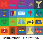 set of 20 icons such as bus ... | Shutterstock .eps vector #1158998737