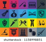 set of 20 icons such as dagger  ...