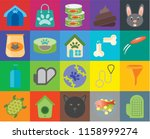 set of 20 icons such as glove ... | Shutterstock .eps vector #1158999274