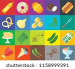 set of 20 icons such as ice... | Shutterstock .eps vector #1158999391