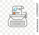 typewriter vector icon isolated ... | Shutterstock .eps vector #1159000207