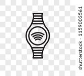 smartwatch vector icon isolated ... | Shutterstock .eps vector #1159003561