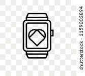 smartwatch vector icon isolated ... | Shutterstock .eps vector #1159003894