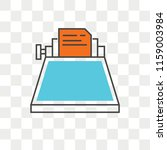 typewriter vector icon isolated ... | Shutterstock .eps vector #1159003984