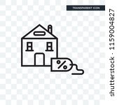 mortgage vector icon isolated... | Shutterstock .eps vector #1159004827