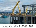 alaska shipping dock   large... | Shutterstock . vector #1159011787
