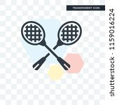 racket vector icon isolated on... | Shutterstock .eps vector #1159016224