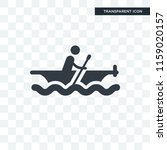 rowing vector icon isolated on... | Shutterstock .eps vector #1159020157