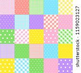 colorful seamless patterns for... | Shutterstock .eps vector #1159023127