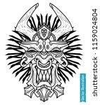 maya mask  tiki bar vector mask.... | Shutterstock .eps vector #1159024804