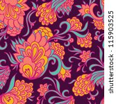 Seamless floral pattern. Can be used for wallpaper, pattern fills, web page background, surface textures, textile.