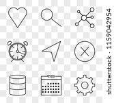 9 simple transparent vector...