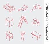 isometric vector renovation... | Shutterstock .eps vector #1159045834