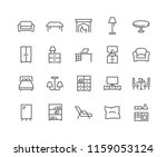 simple set of furniture related ... | Shutterstock .eps vector #1159053124
