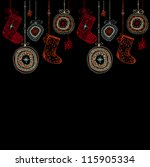 doodle textured christmas... | Shutterstock . vector #115905334