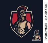 knight sparta sport gaming... | Shutterstock .eps vector #1159055431