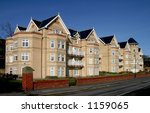 Apartment block in Filey, North Yorkshire, UK - stock photo