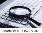 keyboard with magnifier   Shutterstock . vector #1159072087