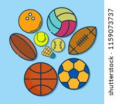 ball vector illustration.... | Shutterstock .eps vector #1159073737