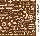 various arrows brown seamless... | Shutterstock .eps vector #115907401