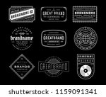 vintage logo  insignia and... | Shutterstock .eps vector #1159091341