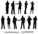 businesspeople silhouette vector | Shutterstock .eps vector #11590939