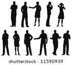 businesspeople silhouette vector | Shutterstock .eps vector #11590939
