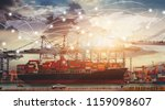 business logistics concept ... | Shutterstock . vector #1159098607