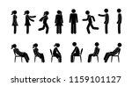 stick figure man and woman... | Shutterstock .eps vector #1159101127