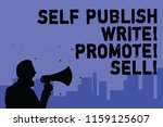 text sign showing self publish... | Shutterstock . vector #1159125607