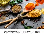 spices for cooking with kitchen ... | Shutterstock . vector #1159132801